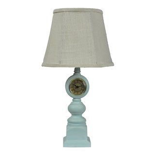 Blue Clock Table Lamp