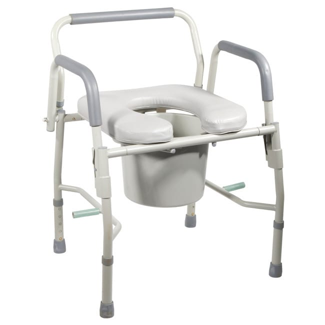 Drive Medical Steel Drop Arm Bedside Commode with Padded Seat & Arms at Sears.com