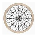 Metal Wood Wall Panel 36-inch Wall Decor