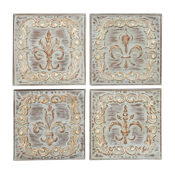 Four Assorted Metal Wall Decors