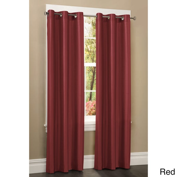 Faux Silk Grommet 84 Inch Curtain Panel 15906313 Shopping Great Deals On