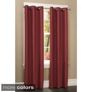 Faux Silk Grommet 84 inch Curtain Panel