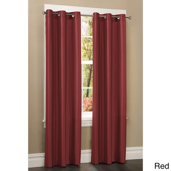 Faux Silk Grommet 84 inch Curtain Panel - Overstock Shopping - Great ...