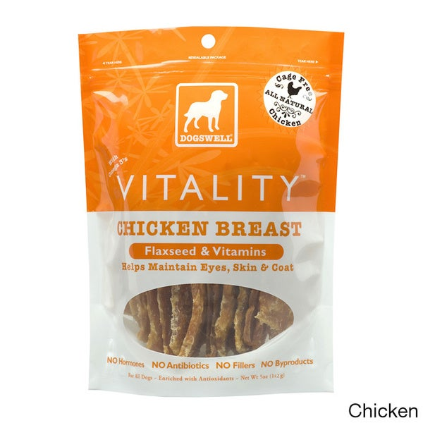 Dogswell Vitality Jerky Pet Dog Treats with Flaxseed/ Vitamins (2-pack)