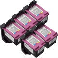 Sophia Global Remanufactured Ink Cartridge Replacements for HP 60XL (Pack of 5)