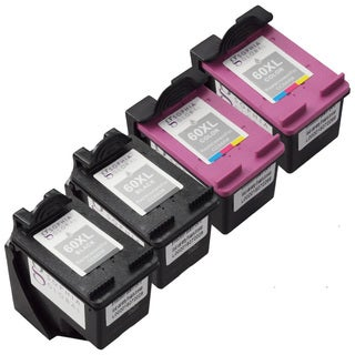 Sophia Global Remanufactured Ink Cartridge Replacements for HP 60XL (Pack of 4)