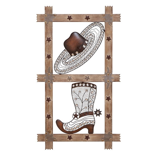 Wrought Metal Western Wall Decor