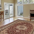 Ardebil Traditional Burgundy Rug (5'3 x 7'4)