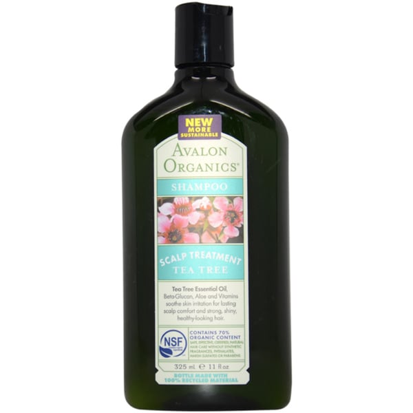 Avalon Organics Scalp Treatment Tea Tree 11-ounce Shampoo