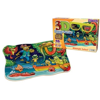 3D Midnight Safari 46-piece Sneaky Puzzle
