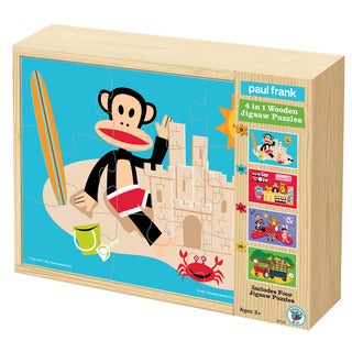 Paul Frank 4-in-1 Wooden Jigsaw Puzzles