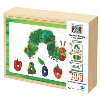 The Very Hungry Caterpillar 4-in-1 Wooden Jigsaw Puzzle Set