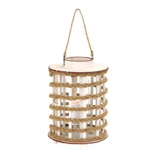 Rope Lantern Wooden Candle Holder
