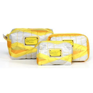 Marc By Marc Jacobs Makeup Travel Pouches in Lemon Custard (3 Pack)
