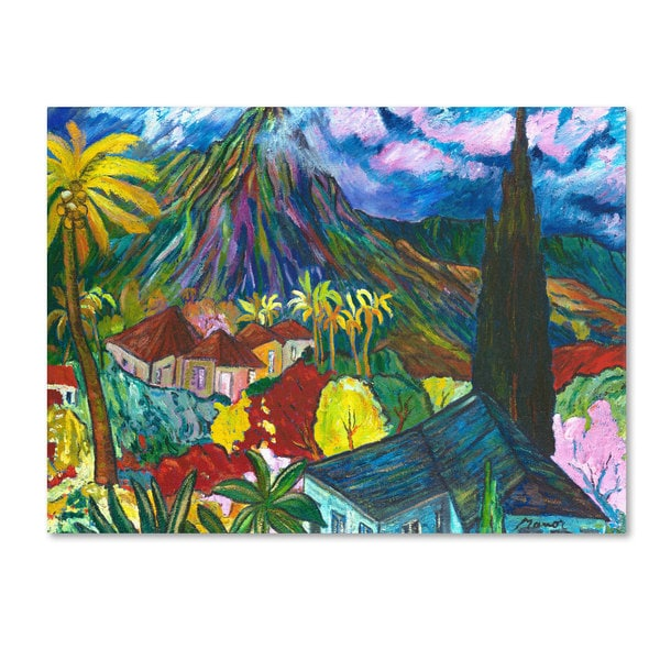 Unknown 'House By the Mountain' Canvas Art