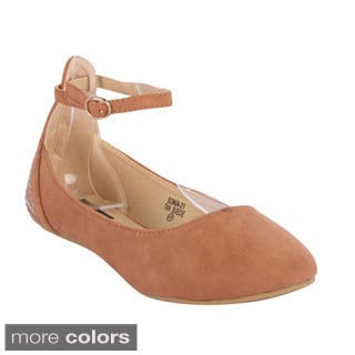 Anna Women's 'Sonia-21' Ankle Strap Casual Ballet Flats