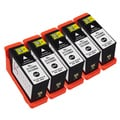 Sophia Global Compatible Black Ink Cartridge Replacements for Dell 31 (Pack of 5)