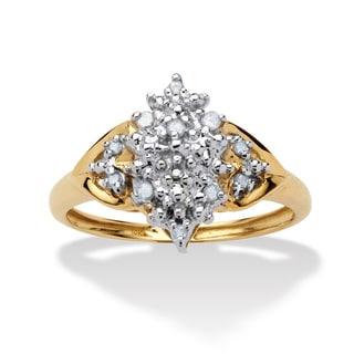 PalmBeach 1/10 TCW Round Diamond Cluster Anniversary Ring in 10k Gold