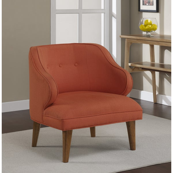 Curved Rust Upholstered Retro Arm Chair 15907560 Overstock Shopping Great Deals On Living