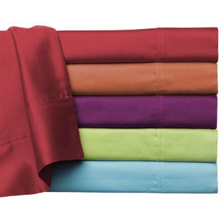 Brights Solid Wrinkle Resistant All Cotton Sheet Set