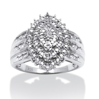 PalmBeach Round Diamond Accent Marquise-shaped Ring