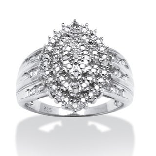 Isabella Collection Round Diamond Accent Marquise-shaped Ring