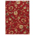 Oriental Swirls Red Area Rug (2' x 3'3)