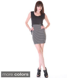 Stanzino Women's Striped Bodycon Mini Dress