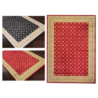 Dallas Formal Red Area Rug (5'3 x 7'3)