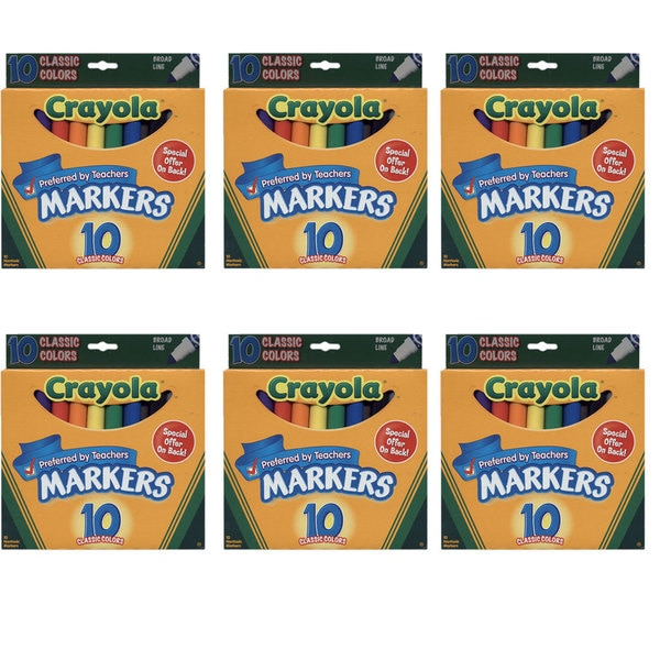 Crayola Classic Colors 10-pack Broad Line Markers (6 Pack)