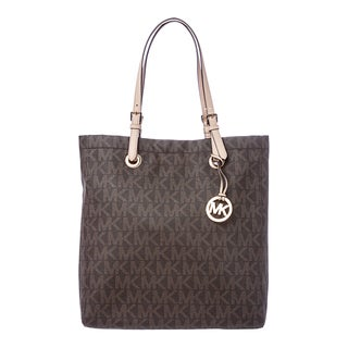 MICHAEL Michael Kors 'Jet Set' Brown North South Logo Tote
