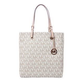MICHAEL Michael Kors 'Jet Set' Vanilla North South Logo Tote