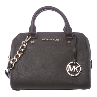 MICHAEL Michael Kors 'Jet Set' Medium Black Travel Satchel