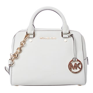 MICHAEL Michael Kors 'Jet Set' Medium Optic White Travel Satchel