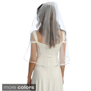 Amour Bridal Single Tier Waist-length Satin Veil