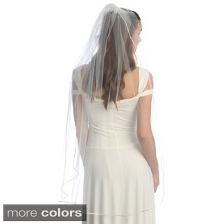 Amour Bridal Single Tier Satin Corded-edge Veil
