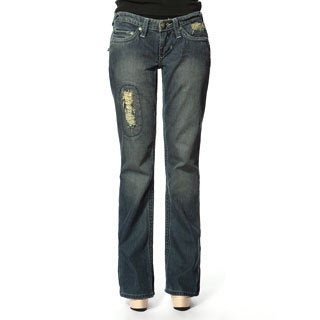 Stitch's Women's Worn Vintage Denim Bootleg Jeans