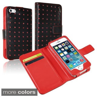 BasAcc Wallet Leather Case for Apple iPhone 5/ 5S