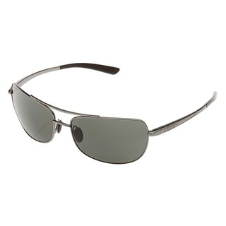 Bolle 'Quindaro' Metallic Gunmetal Polarized Sunglasses