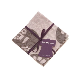 Hand-printed 'Lilac' Cocktail Napkin Set (Set of 4)