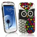 BasAcc Black Owl Rubber Coated Case for Samsung� Galaxy S3/ SIII i9300