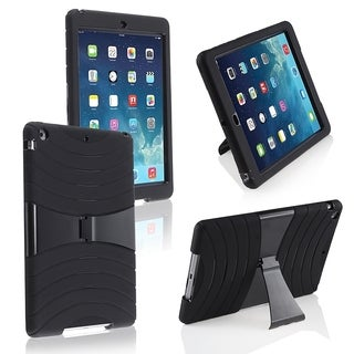 BasAcc Black Hard/ Skin Hybrid Fusion Case with Stand for Apple iPad Air