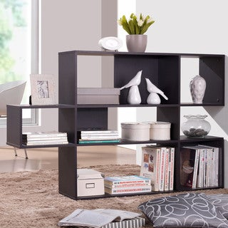 Baxton Studio Lanahan Espresso 3-level Modern Display Shelf