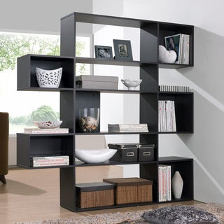 Baxton Studio Lanahan Espresso 5-level Modern Display Shelf