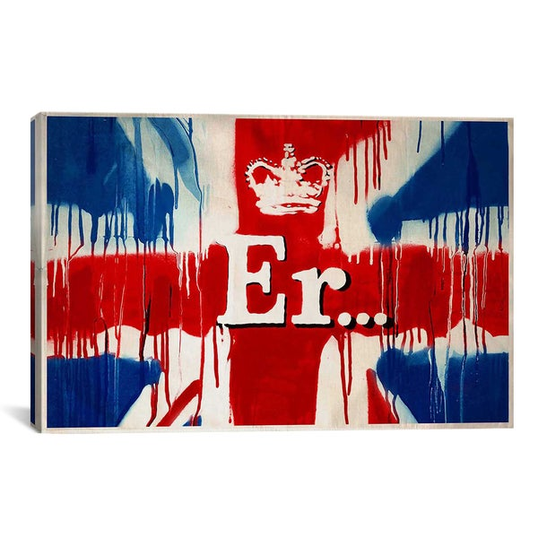 Banksy 'Union Jack Er...' Gallery Wrapped Canvas Print Wall Art