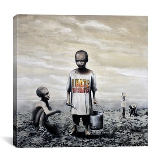 Banksy 'I Hate Mondays' Gallery Wrapped Canvas Print Wall Art