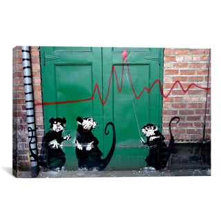 Banksy 'Banksy in Seattle' Gallery Wrapped Canvas Print Wall Art
