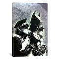 Banksy 'Batman and The Police' Gallery Wrapped Canvas Print Wall Art