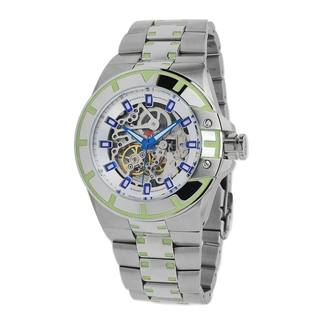 Android Men's 'Bioluminescence Skeletonized Automatic' Green Dial Watch