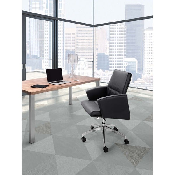 Chieftain White Low Back Office Chair